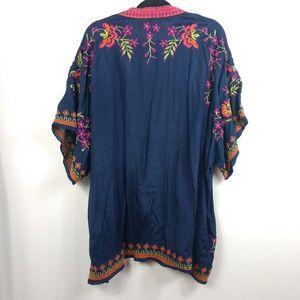 Chelsea & Theodore Sweaters - Chelsea & Theadore Kimono Floral Embroidered